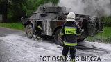 O krok od tragedii. Żołnierze z Przemyśla uciekli z płonącego wozu