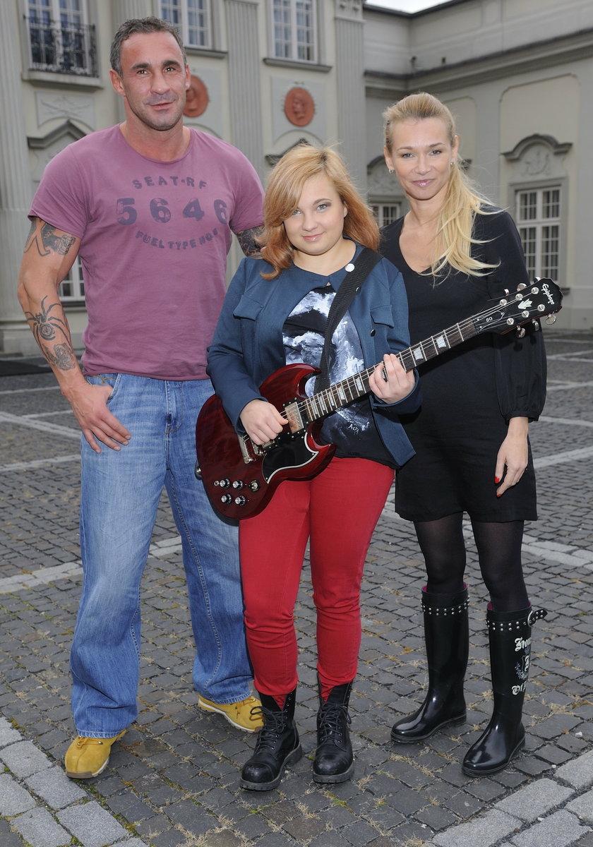 Nicole Saleta z rodzicami