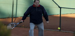 Ryszard Kalisz gra w tenisa GALERIA