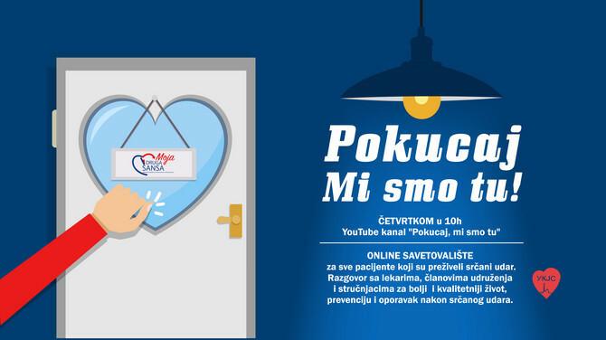 POKUCAJ, MI SMO TU - onlajn savetovalište za sve pacijente sa kardiološkim problemima
