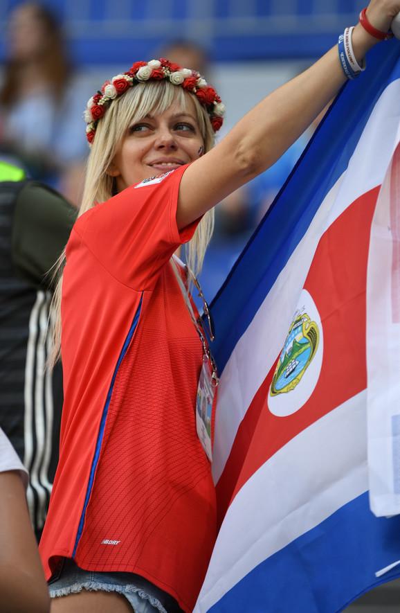 Kostarikanska navijačica u Samari
