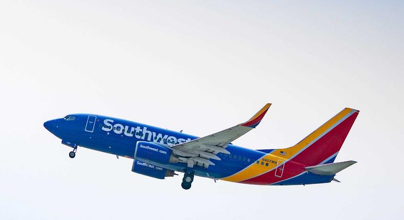 A Southwest Airlines Boeing 737-700.