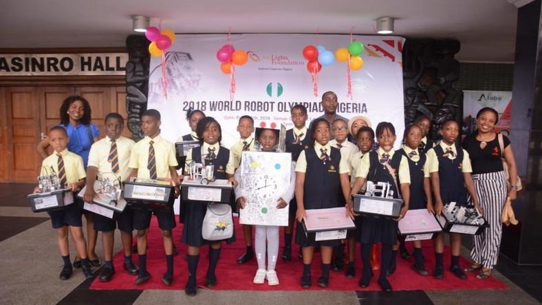 Participants at the 2018 World Robot Olympiad (WRO) Nigeria held on Saturday, Sept 15, 2018, in Lagos.