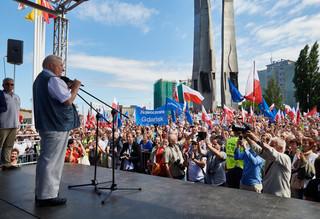 Wałęsa na wiecu w Gdańsku: Nie można pozwolić na zmianę układu. Zawsze będę z wami