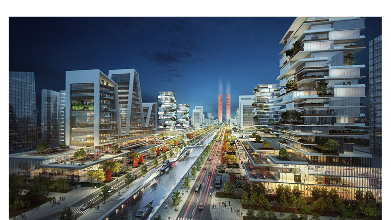 Picture depicting the futuristic city, Eko Atlantic City, in Lagos Nigeria