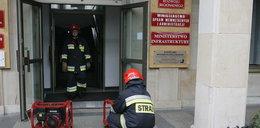 Pożar w ministerstwie!