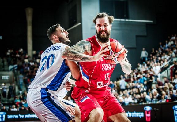 Raduljica na prvom meču između Izraela i Srbije u ovim kvalifikacijama