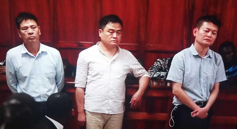 3 Chinese charged in court for beating up and robbing Kenyan Samuel Mbugua Njoroge Sh5 million cash and his Sh2.1 million car