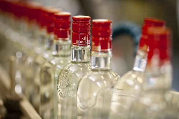 Gotowa wódka w fabryce wódek Sobieski w starogardzie Gdańskim