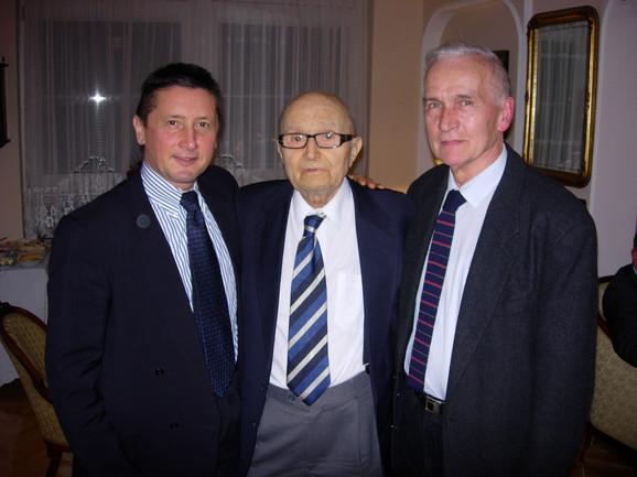 Prof. dr Kovčin, prof. Mate i prof. Maksić