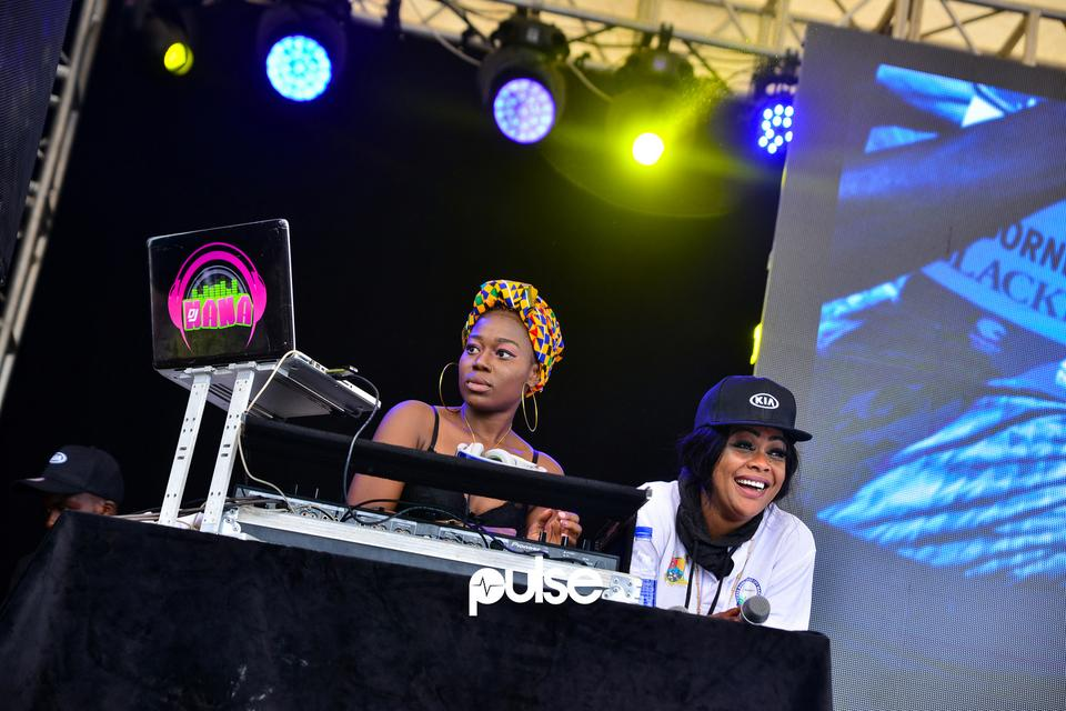 DJ Nana performing at Access Bank Lagos City Marathon 2019