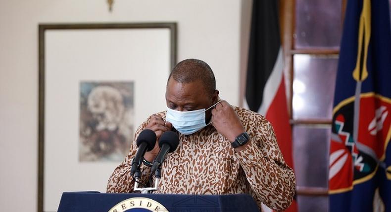 President Uhuru Kenyatta during a recent press address from State House, Nairobi