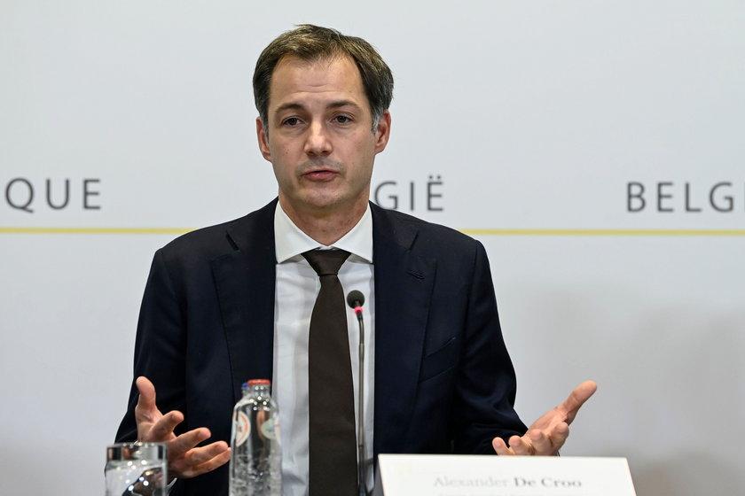 Premier Belgii Alexander De Croo