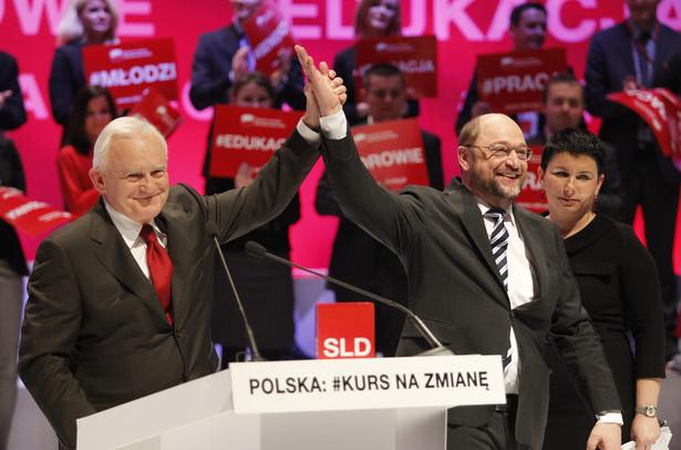 Konwencja SLD: Leszek Miller i Martin Schultz