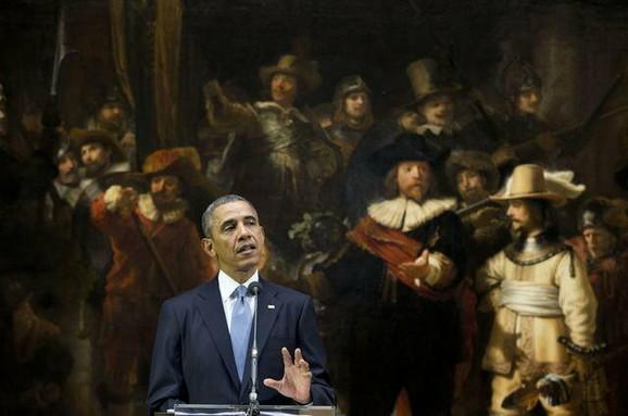 Barak Obama govori u Amsterdamu