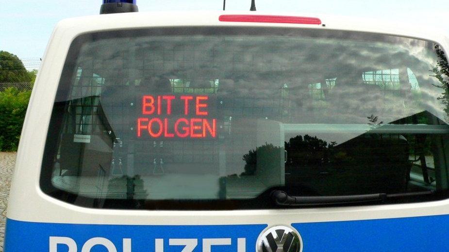 Niemiecka kontrola. Fot. Polizei