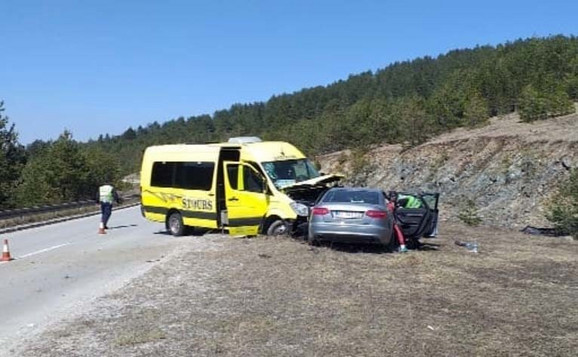 Four players and their coach were hurt in the accident