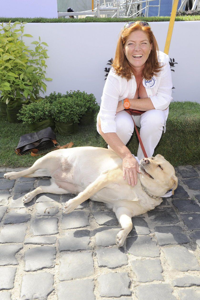 Katarzyna Dowbor z psem