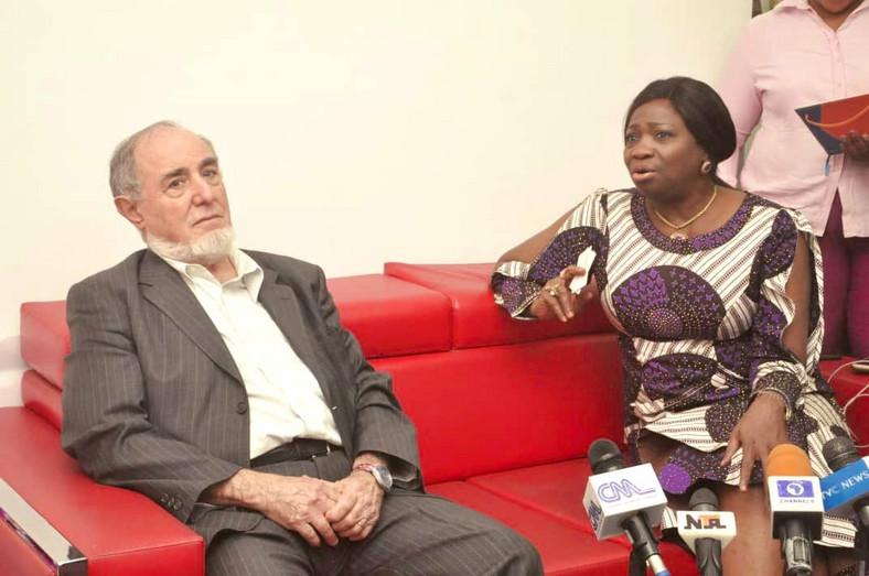 Chairman/CEO of Nigerians in Diaspora Commission (NIDCOM), Mrs Abike Dabiri-Erewa and Francesco Panziga, ILO Consultant. [Twitter/@nidcom_gov]