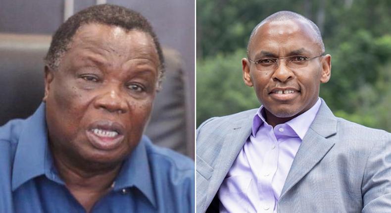 COTU Secretary-General Francis Atwoli and Safaricom PLC CEO Peter Ndegwa