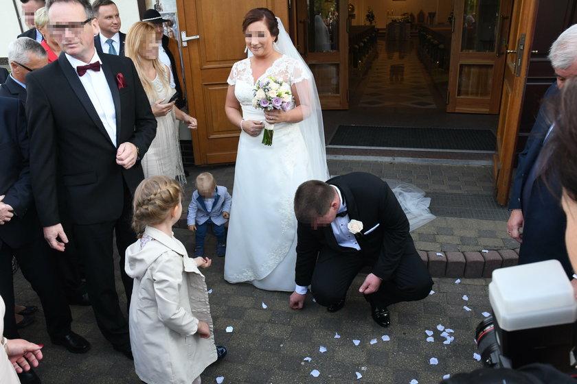 Ślub córki Beaty Kempy w Sycowie