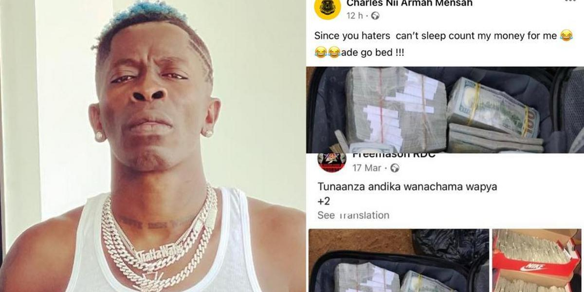 Shatta Wale busted for  stealing bag of money online (SCREENSHOTS)