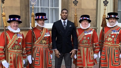 Anthony Joshua receives British OBE honour from the Queen of England