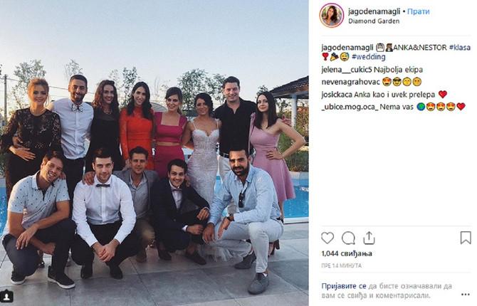 Nevesta i drage zvanice: Anka Gašeća sa drugarima sa klase