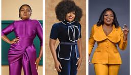 Funke Akindele in pantsuits or two-piece sets [instagram]