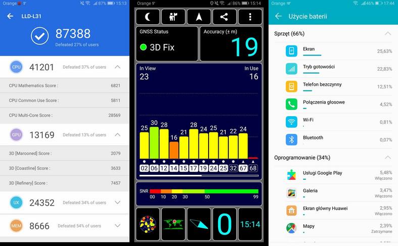 Honor 9 Lite - AnTuTu Benchmark, GPS, zużycie baterii