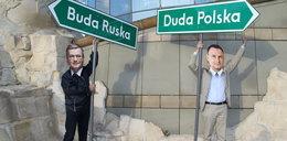 Przed siedzibą TVP spotkali się zwolennicy Komorowskiego i Dudy!