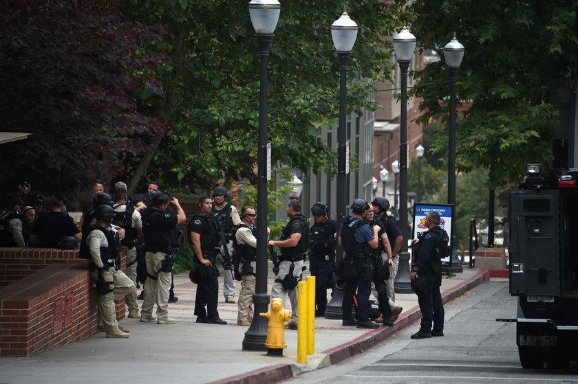 Policja i FBI w UCLA