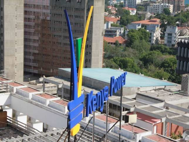 File image of Electricity House rooftop with the Kenya Power logo