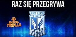 Co to za mistrz Polski?! Fani wyśmiewają w memach Lecha Poznań