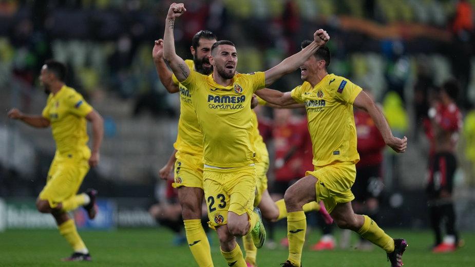 Radość piłkarzy Villarreal CF po triumfie w LE