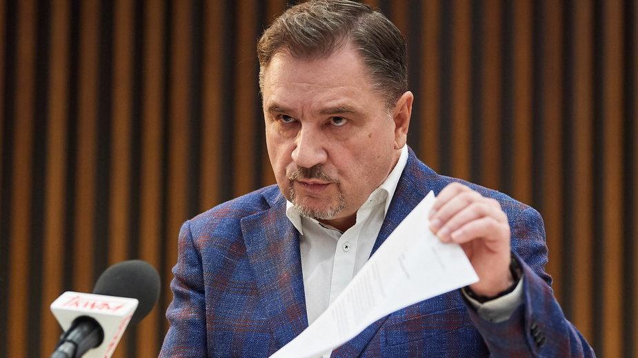"""Szef NSZZ """"Solidarnośc"""" Piotr Duda"""