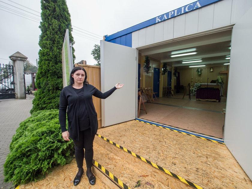 Pogrzeb w kontenerze zamiast w kaplicy