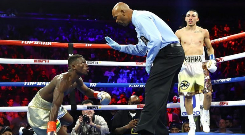 Richard Commey knocked down in round two; loses IBF title