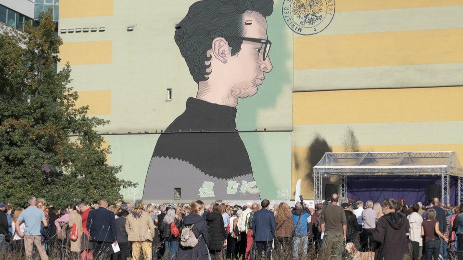 Mural upamiętniający opozycjonistę z czasów PRL Jana Lityńskiego