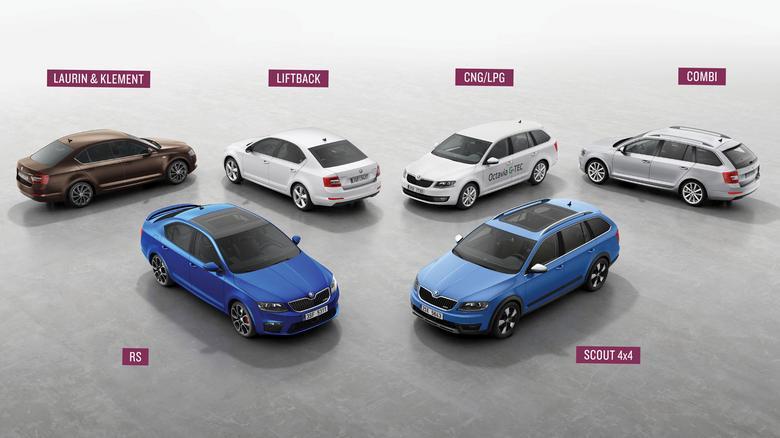 Octavię III spotkacie w różnych wersjach nadwoziowych i wyposażeniowych (np. specjalna L&K), a także odmianach z zasilaniem LPG i CNG.