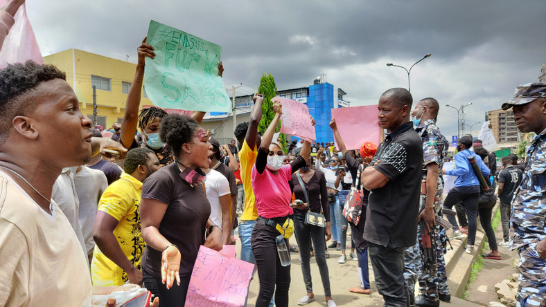 #EndSARS protesters in Lagos
