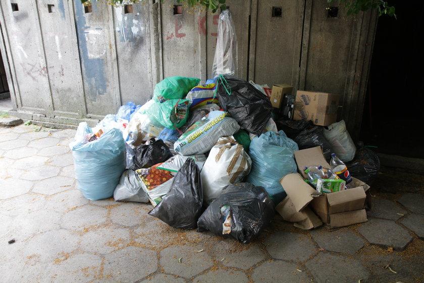 Śmieci przy ul. Limanowskiego
