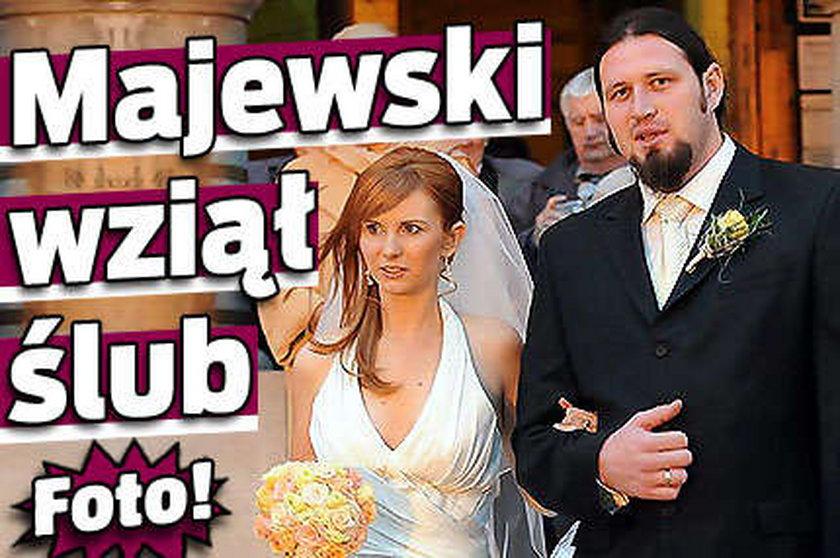 Majewski wziął ślub. Foto!