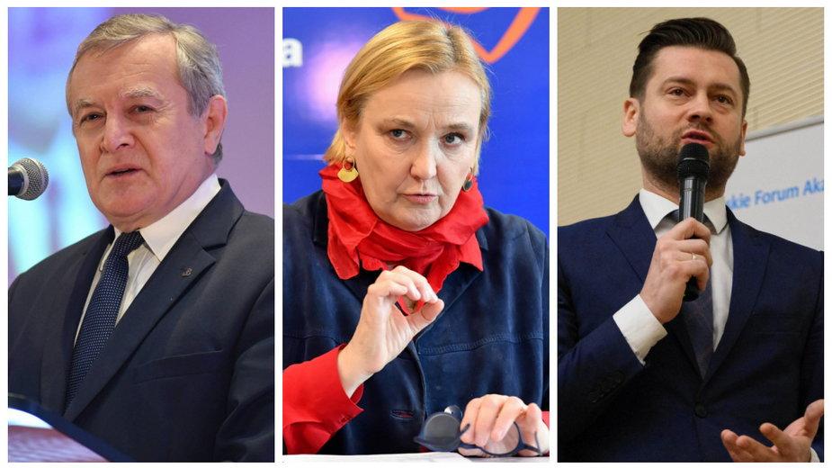 Piotr Gliński, Róża Thun, Kamil Bortniczuk