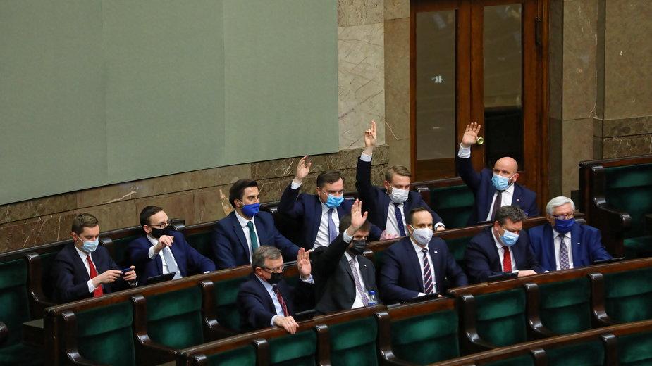 Zbigniew Ziobro w czasie posiedzenia Sejmu