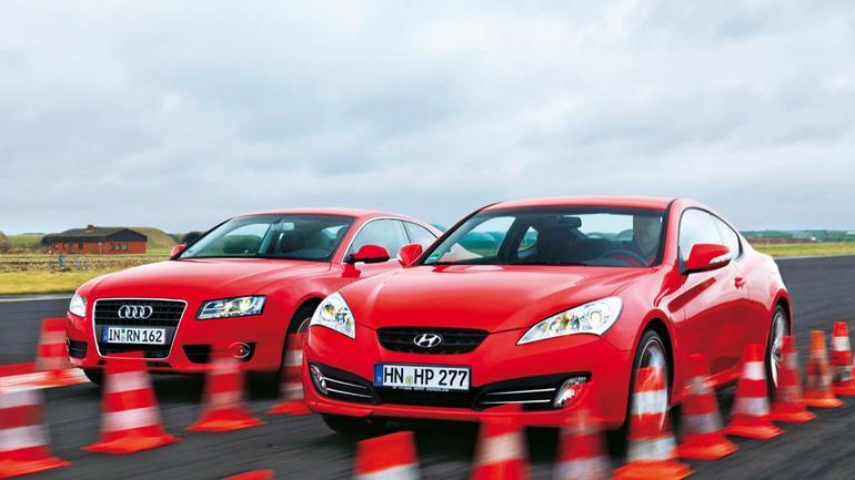 Audi A5 Coupe kontra Hyundai Genesis: ogniste wyścigówki na start!