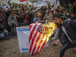 Anti US Protests in Gaza