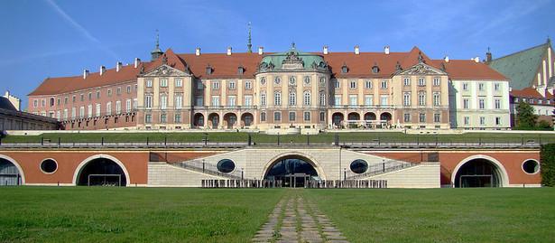 Zamek królewski - fasada saska nad Arkadami Kubickiego