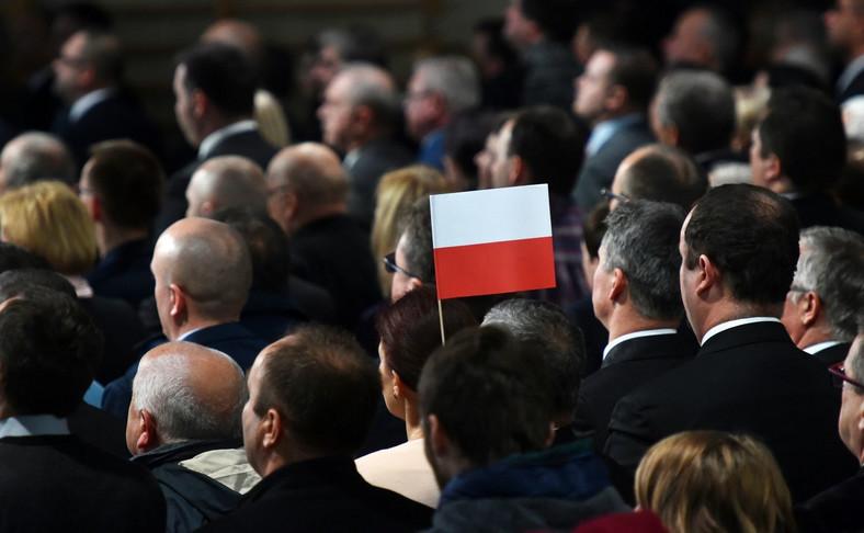 Kongres Wsi Polskiej. Jarosław Kaczyński przemawia