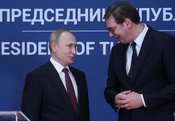 Predsednik Rusije Vladimir Putin i predsednik Srbije Aleksandar Vučić